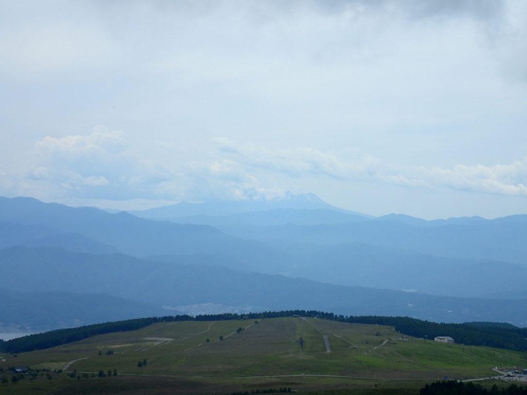 霧ケ峰の車山から見た御嶽山