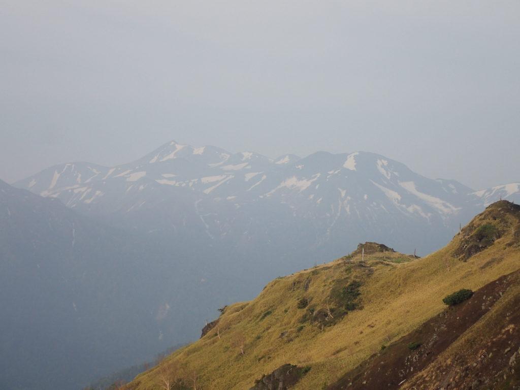 焼岳登山道(中の湯ルート)から見る乗鞍岳
