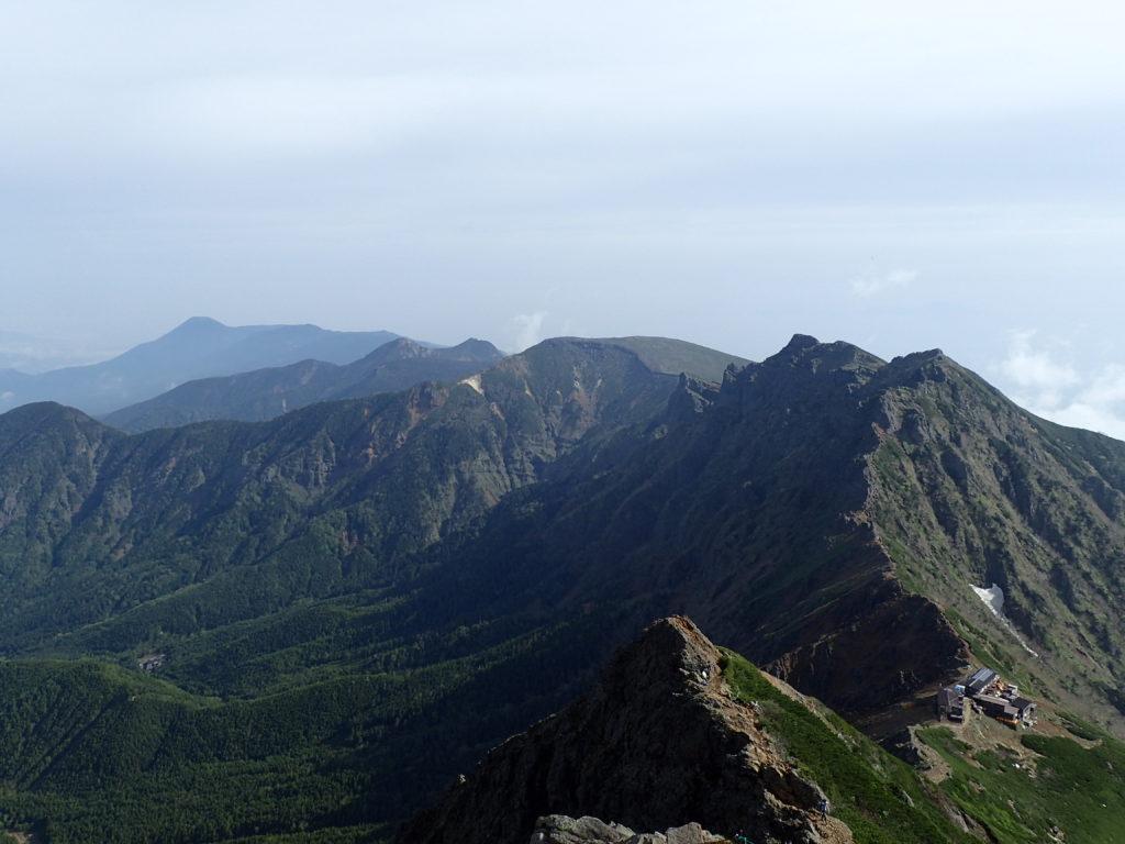 赤岳から見る北八ヶ岳方面