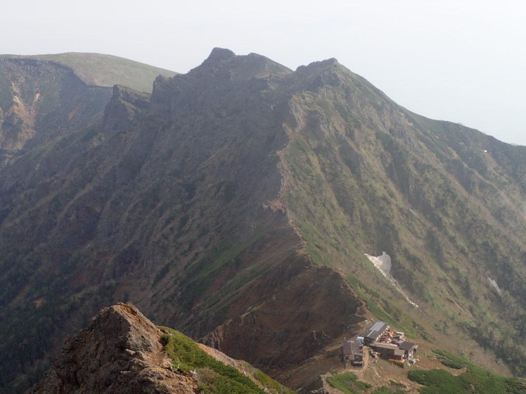赤岳から見る横岳