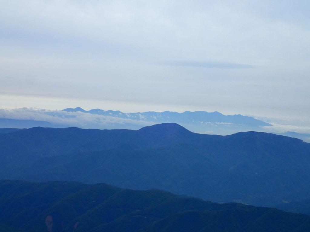 乗鞍岳から見る八ヶ岳