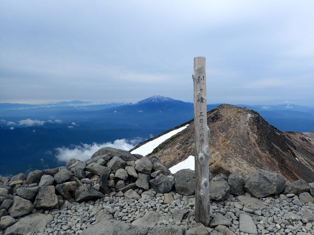 乗鞍岳の最高峰剣ヶ峰の山頂