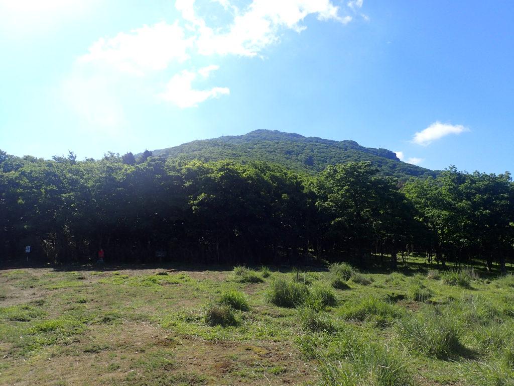 祖母山の北谷ルートの国観峠からの祖母山の山容