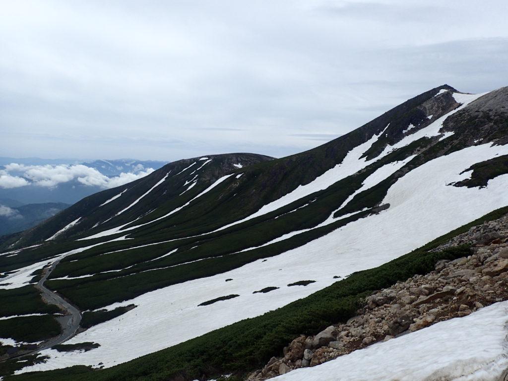 乗鞍岳の大雪渓