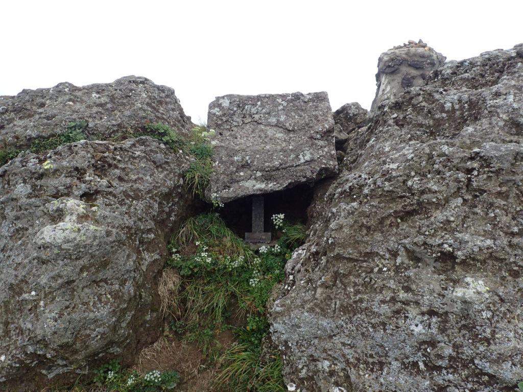 安達太良山山頂の祠