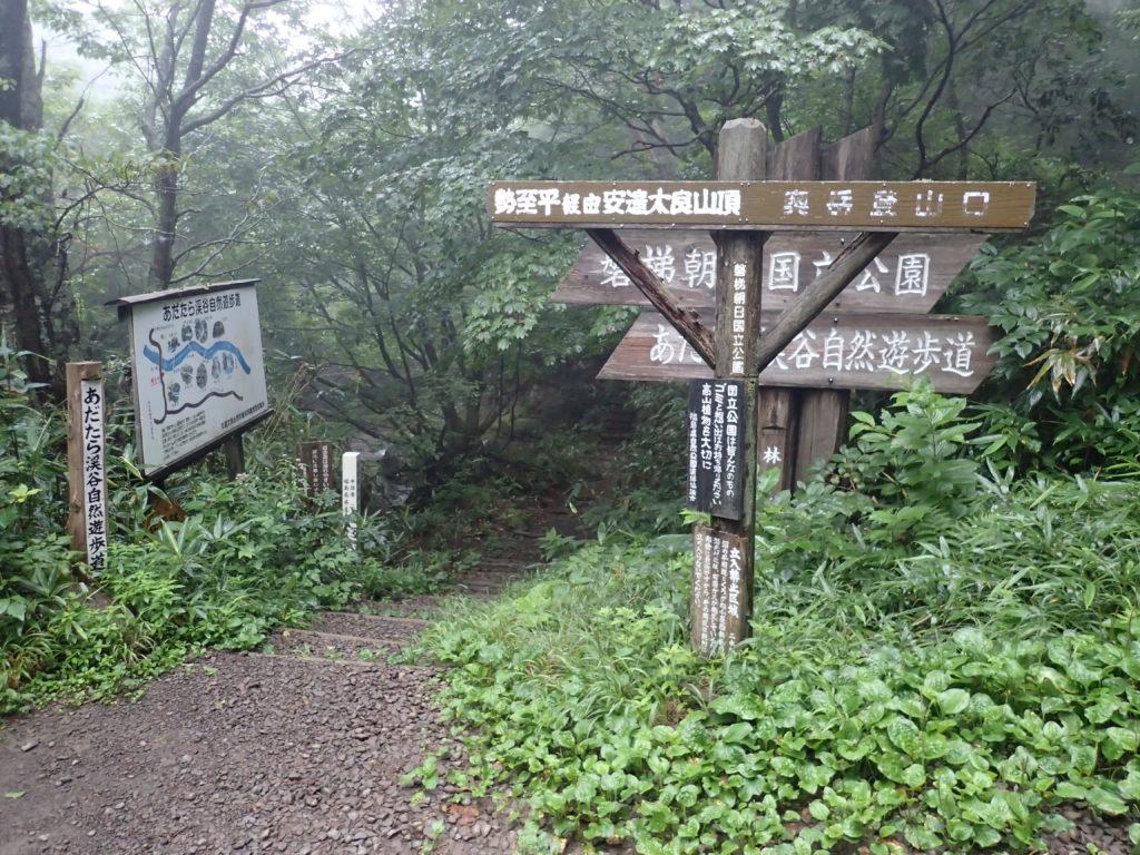 あだたら溪谷自然遊歩道入口(鳥川橋側)