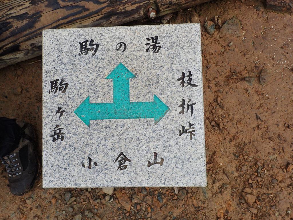 越後駒ヶ岳の枝折峠ルートの小倉山