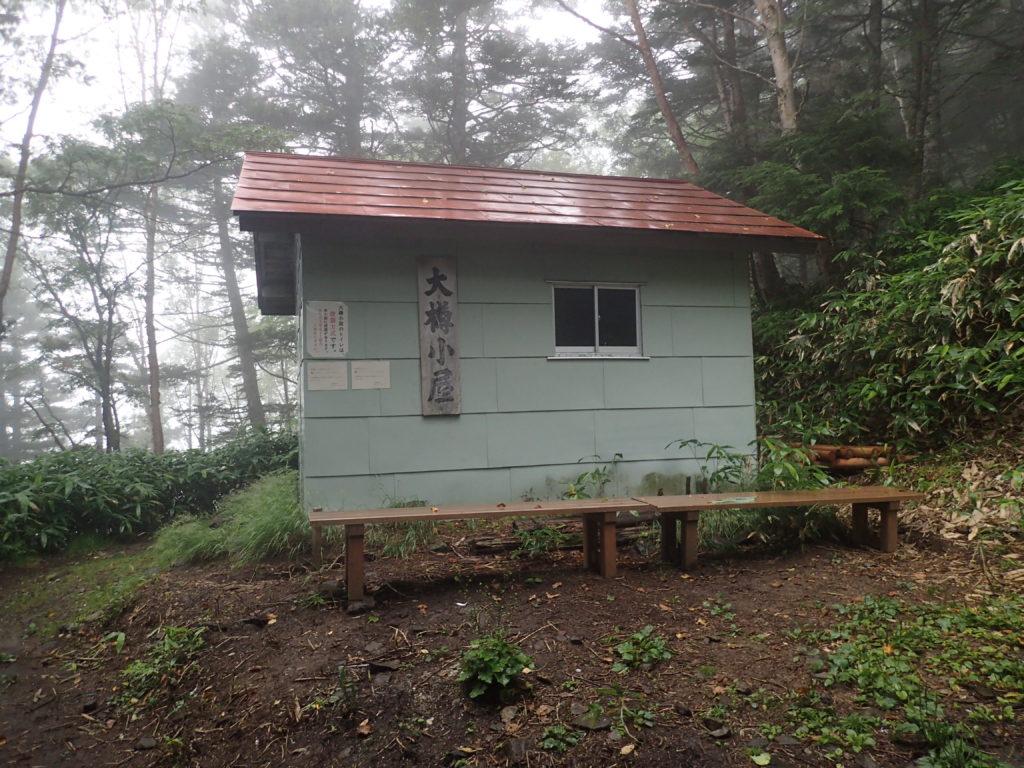 木曽駒ヶ岳の桂小場ルートの大樽小屋
