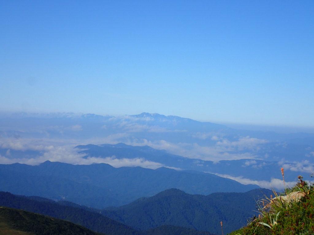 薬師岳登山道から眺める白山
