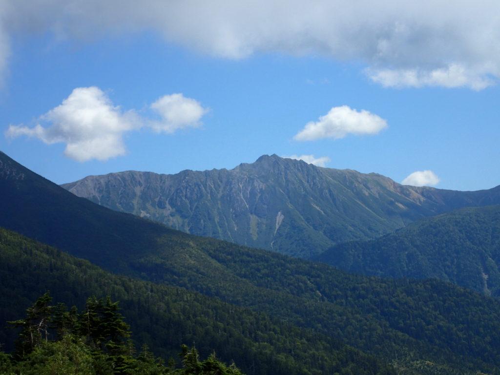 薬師岳登山道から見る水晶岳