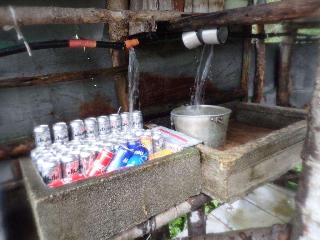 鳳凰三山の鳳凰小屋の水場