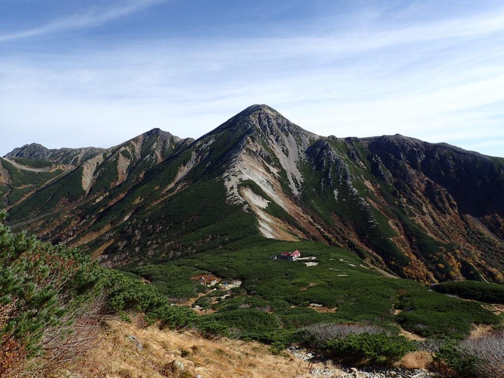 三俣蓮華岳方面から見る鷲羽岳