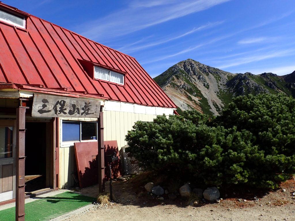 三俣山荘と鷲羽岳