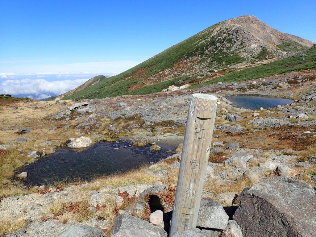白山のお池めぐりの五色池