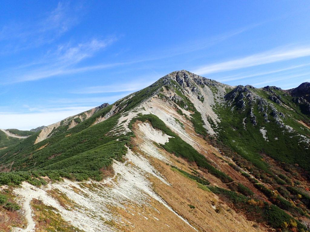 鷲羽岳へと続く登山道