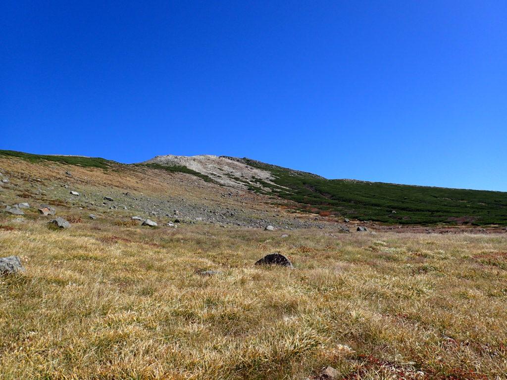 室堂付近から見上げる白山
