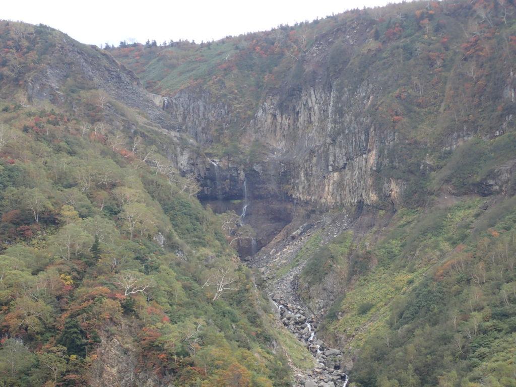 白山の別当覗付近から見る不動滝