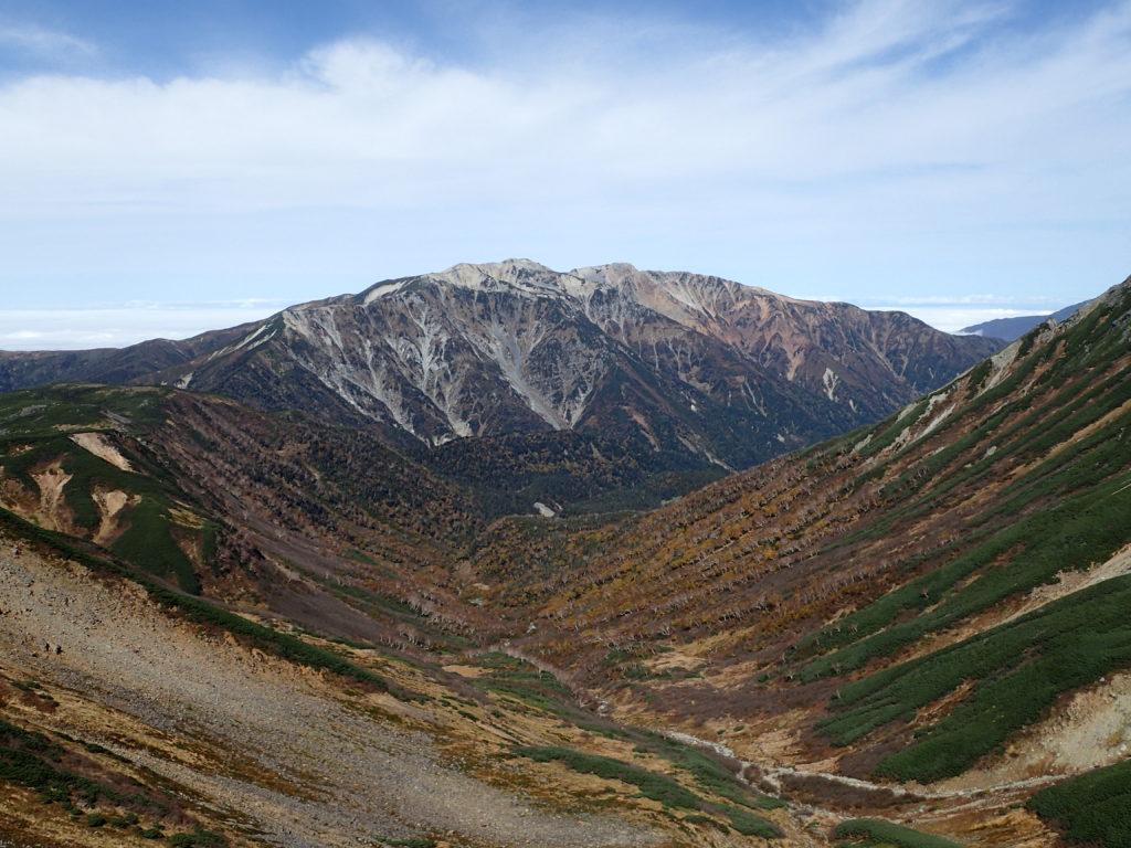 ワリモ岳付近から見る薬師岳