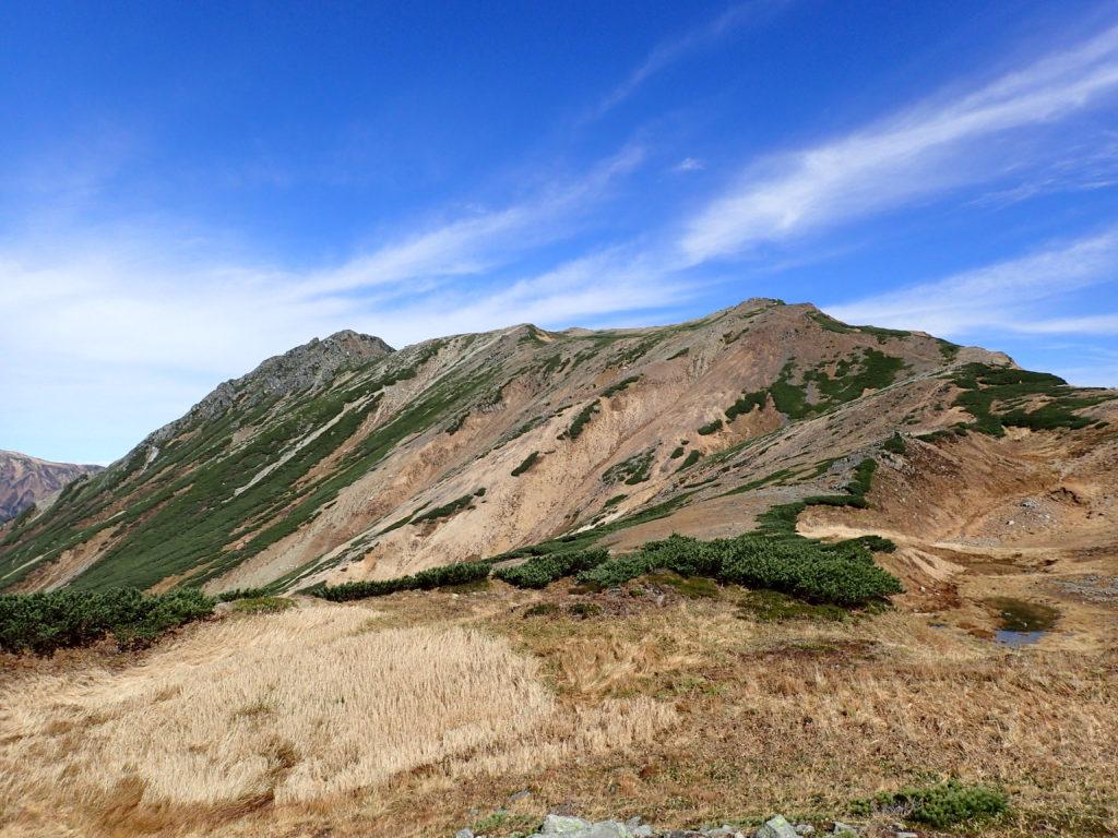 ワリモ岳付近から見る水晶岳