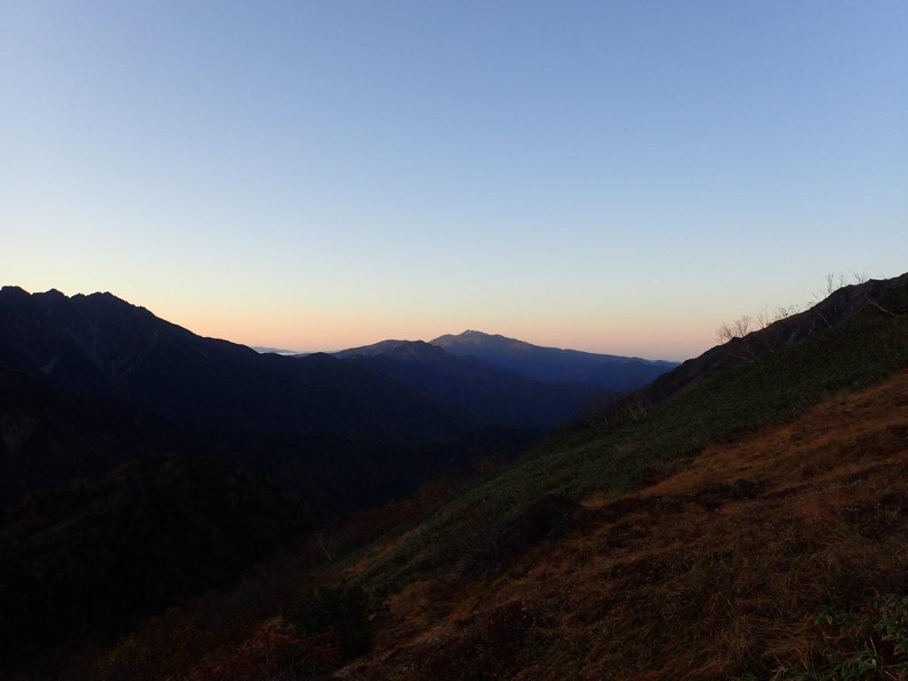 朝焼けの乗鞍岳