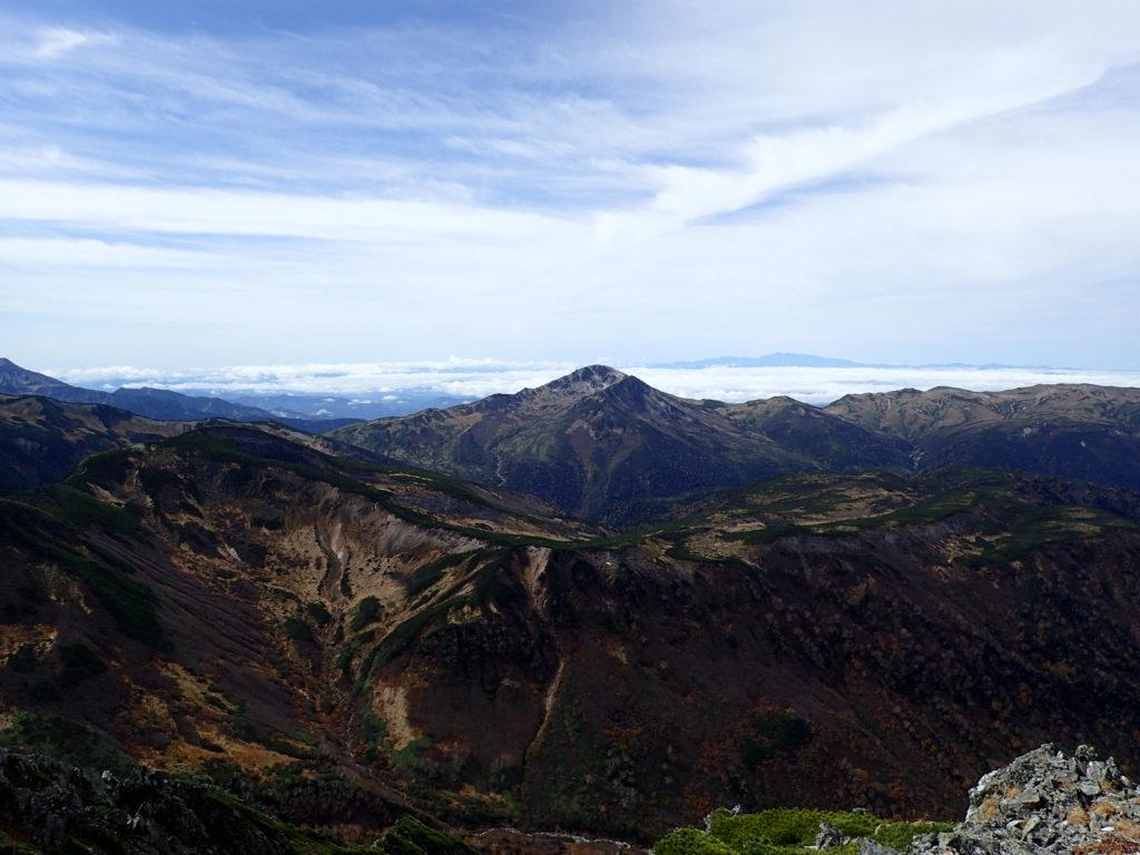 水晶岳から見る黒部五郎岳