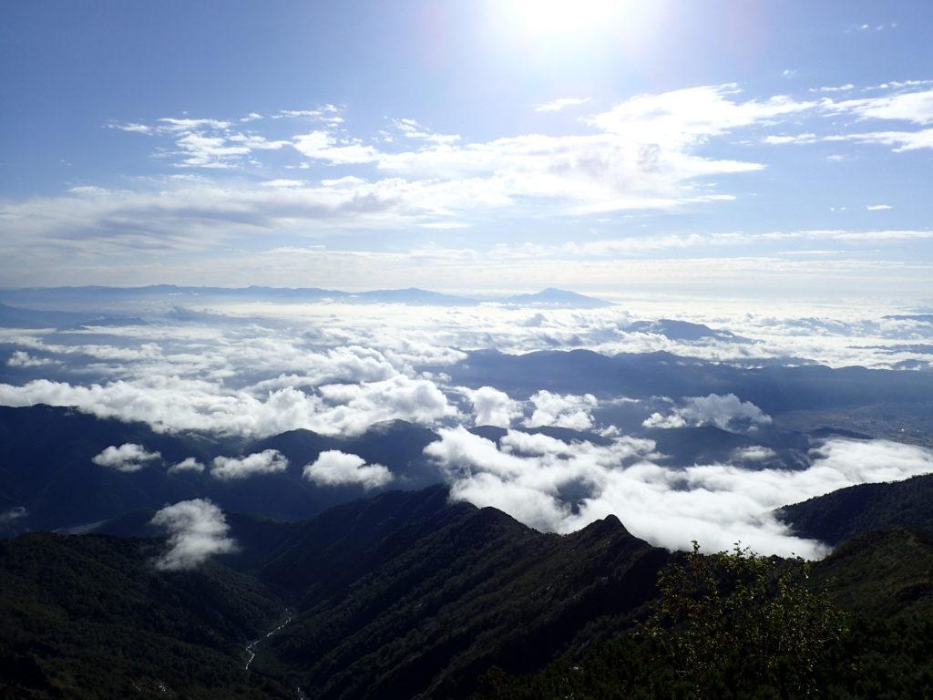 爺ヶ岳から見る雲海