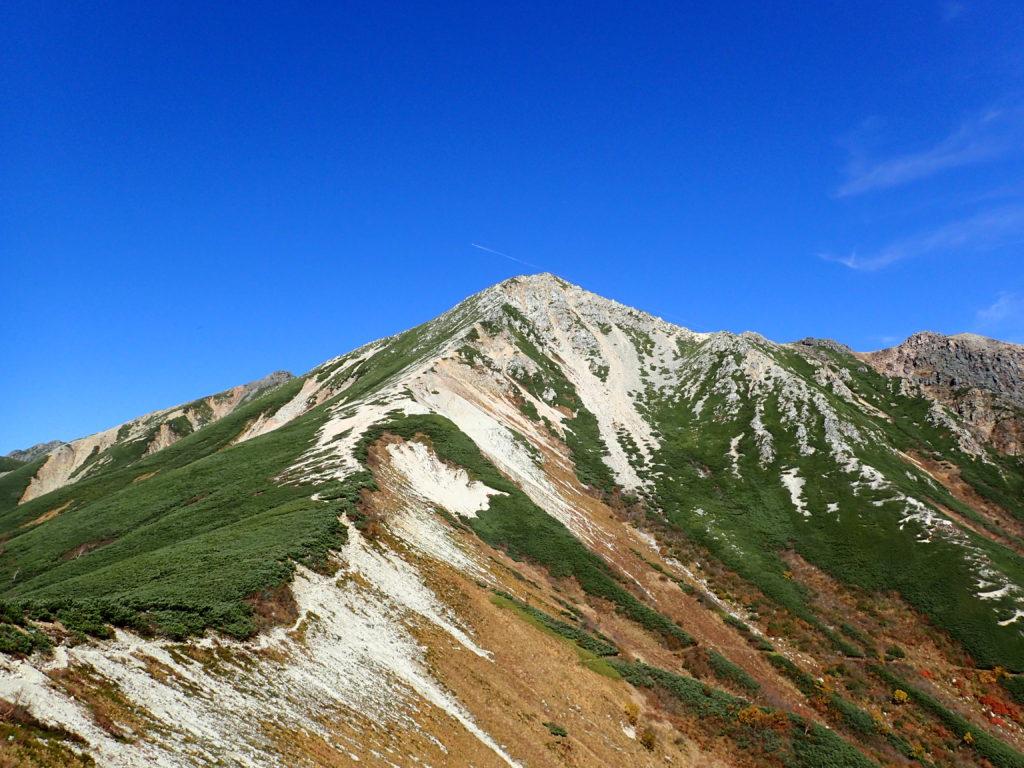 三俣山荘付近から見上げる鷲羽岳