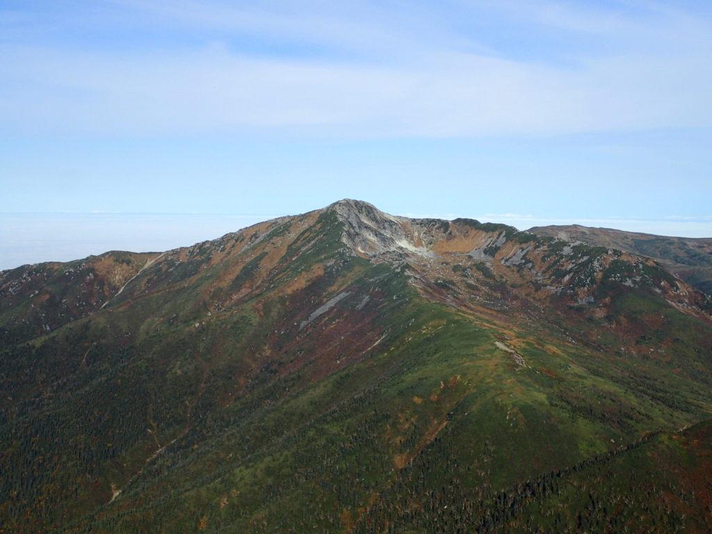 双六岳付近から見る黒部五郎岳