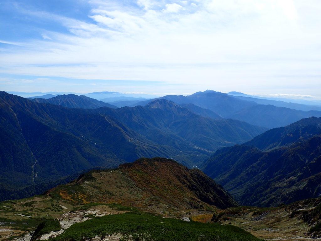 笠新道から見る乗鞍岳方面