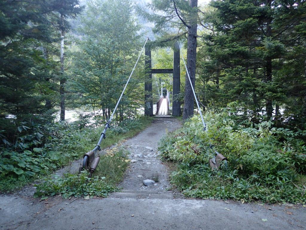 上高地の新村橋