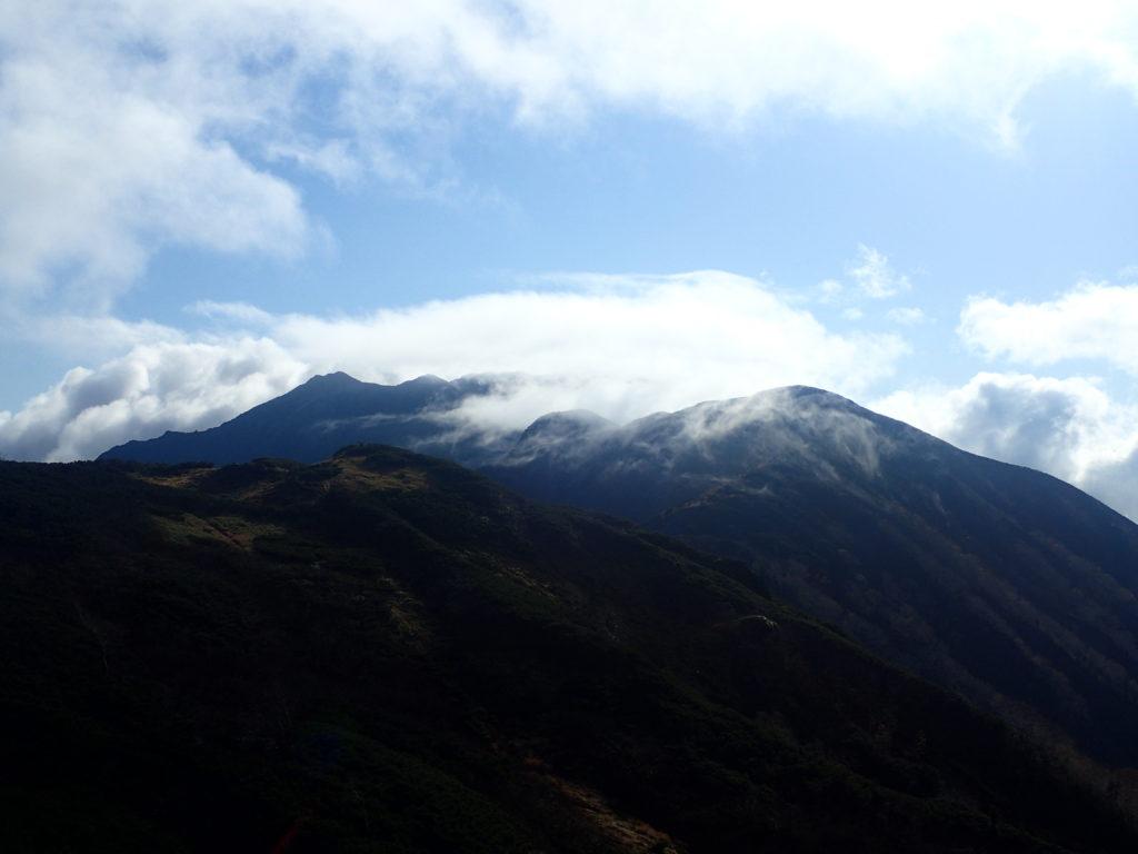双六岳付近から見る笠ヶ岳