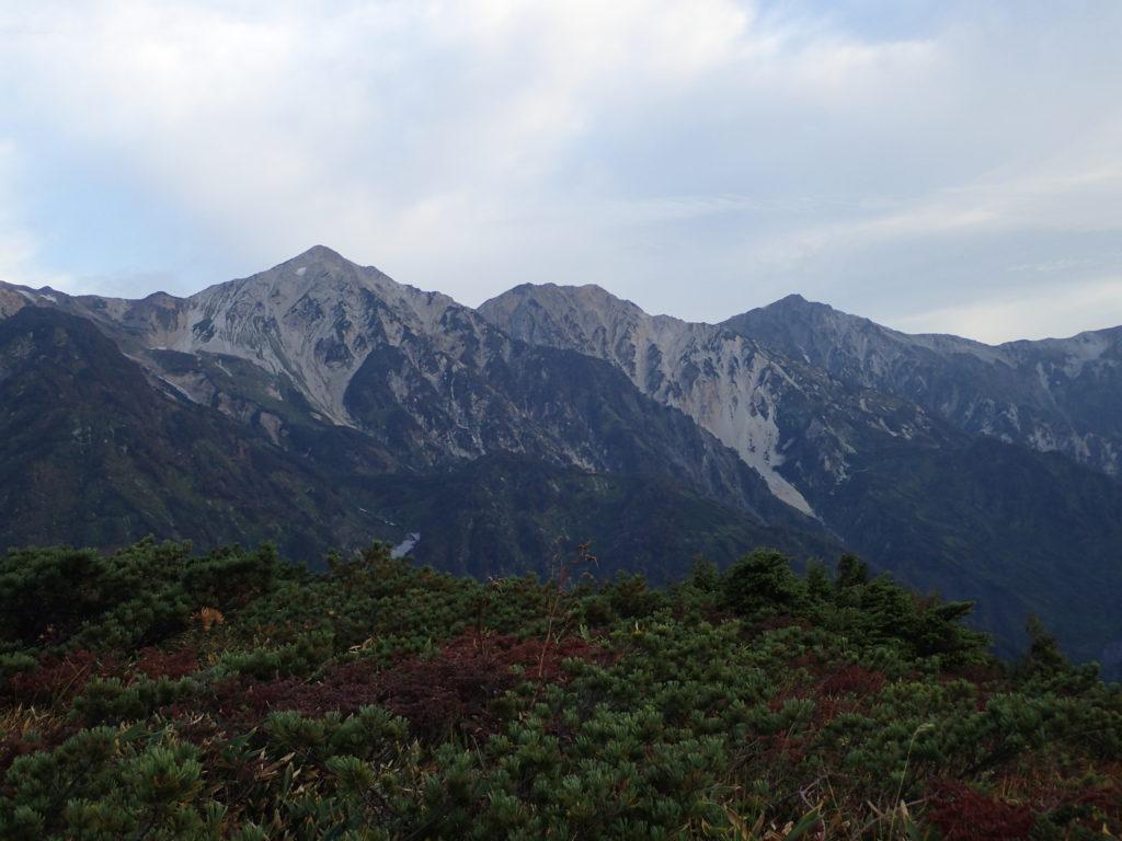八方尾根から見る白馬三山