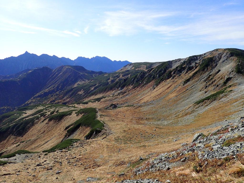 三俣蓮華岳方向から見る槍ヶ岳