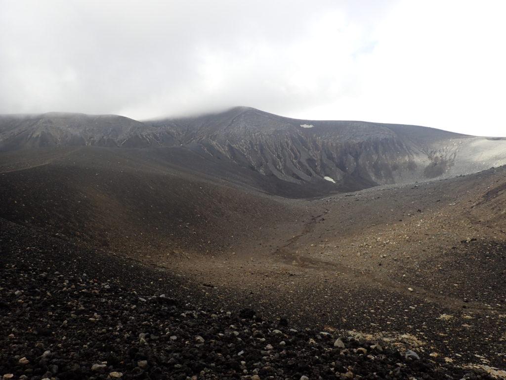 十勝岳の山頂方向