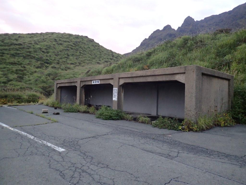 阿蘇山の仙酔峡の退避壕