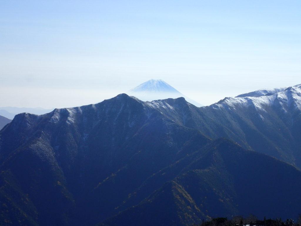 仙丈ヶ岳から見る富士山