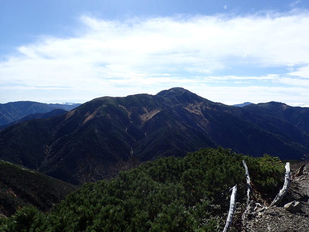 聖岳から見る上河内岳