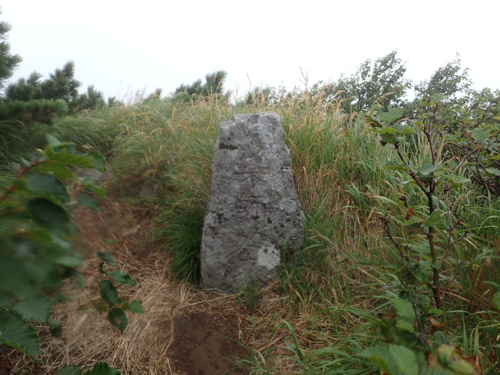 利尻山の8合目付近の石碑