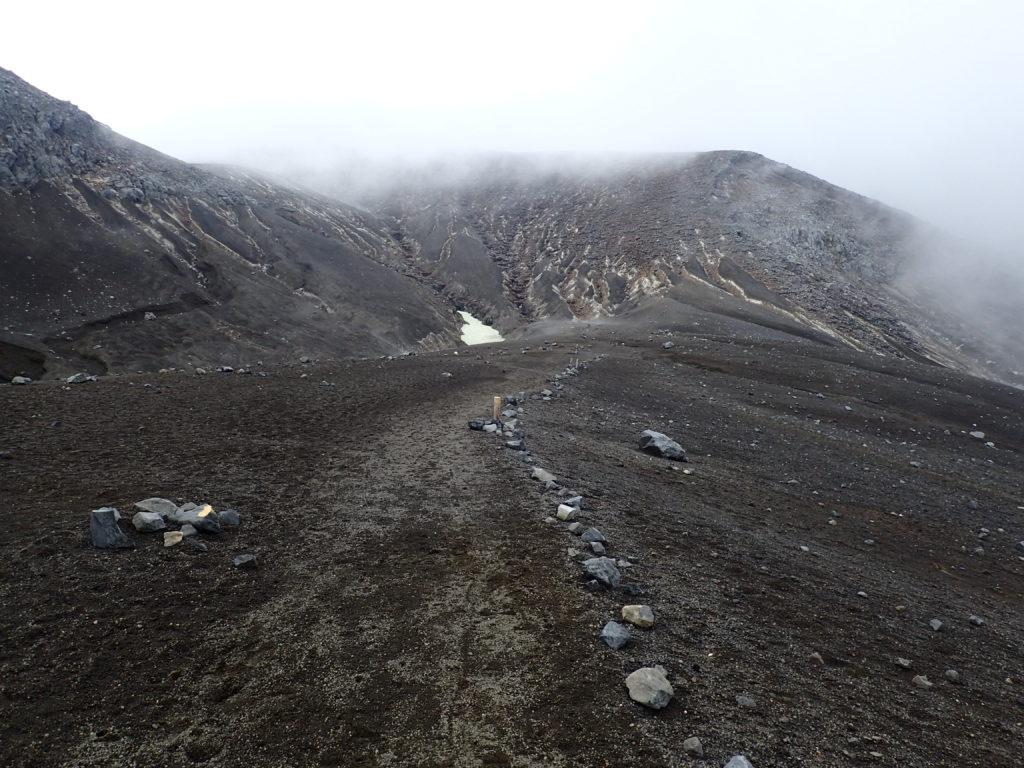 十勝岳の望岳台ルート登山道