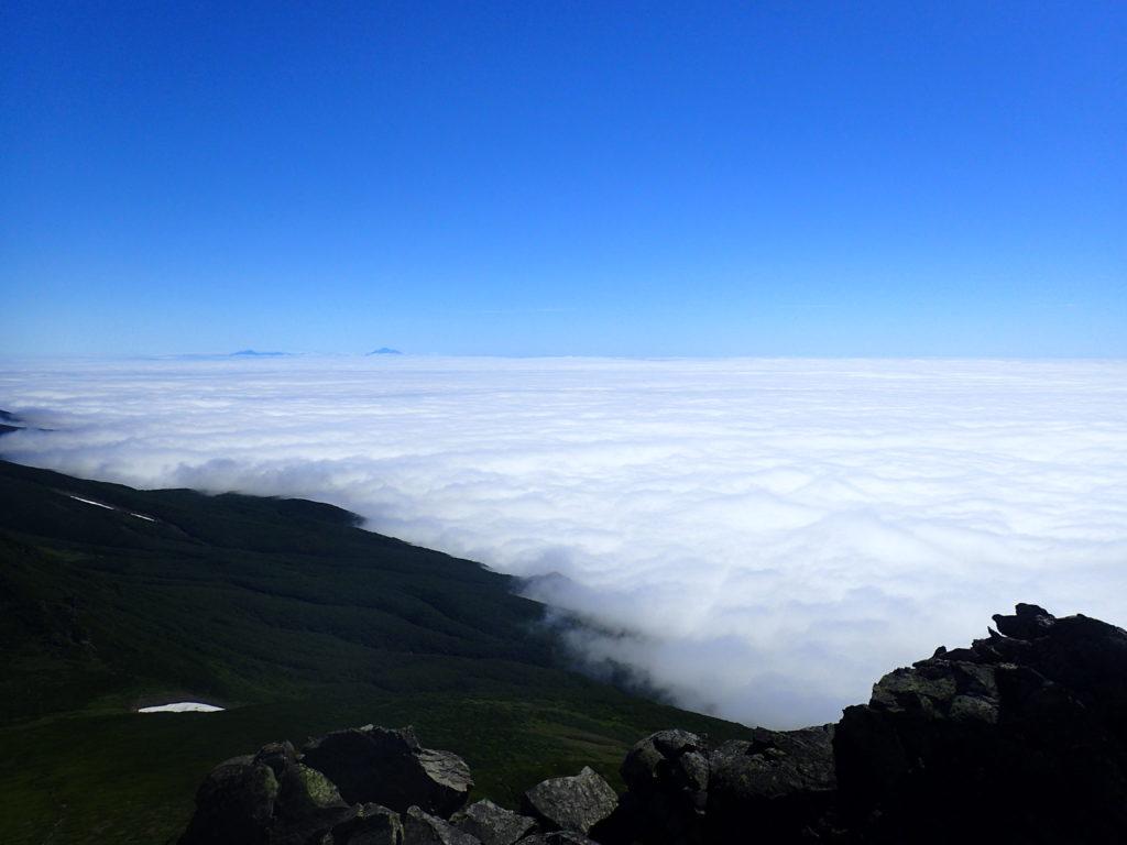 羅臼岳山頂付近から見た雲海