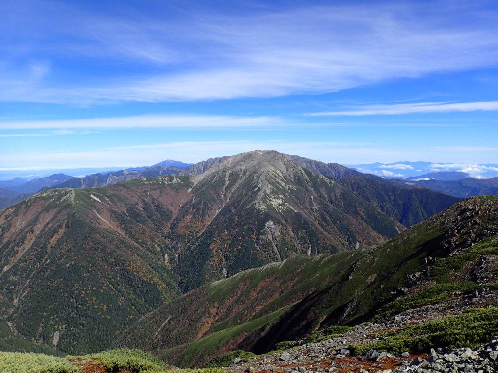 聖岳から見る赤石岳
