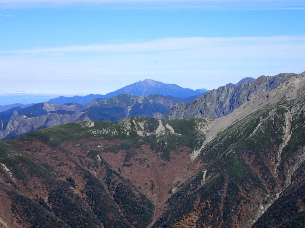 聖岳から見る仙丈ヶ岳
