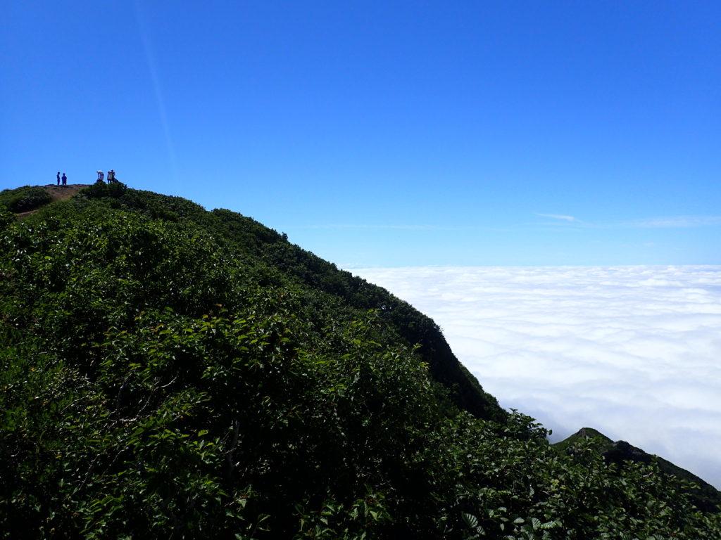 斜里岳山頂と雲海