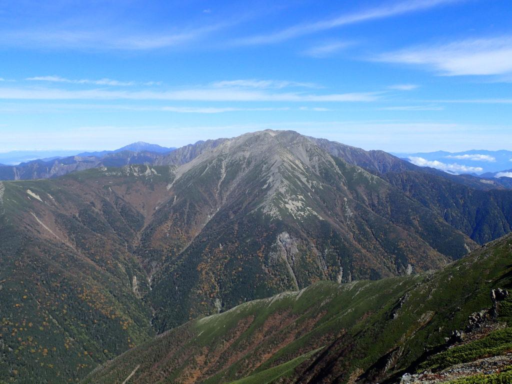 聖岳山頂から見る赤石岳