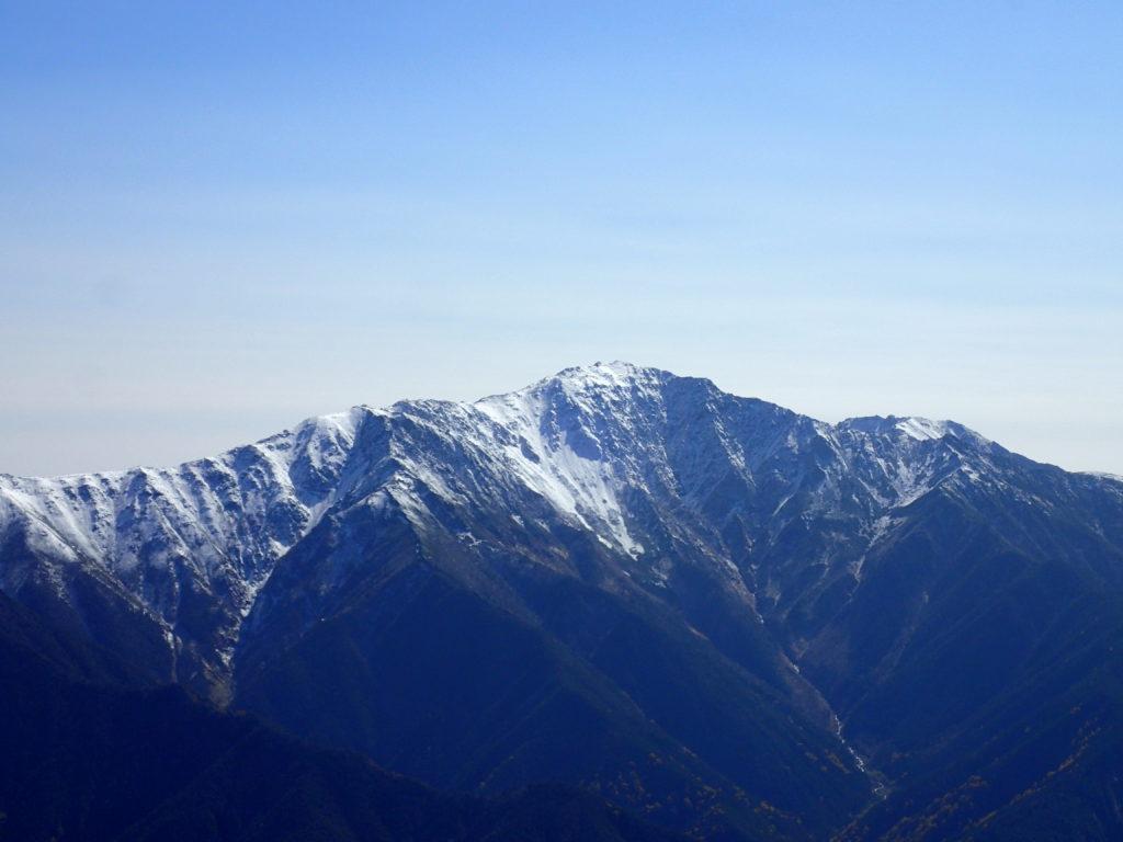 仙丈ヶ岳から見る間ノ岳
