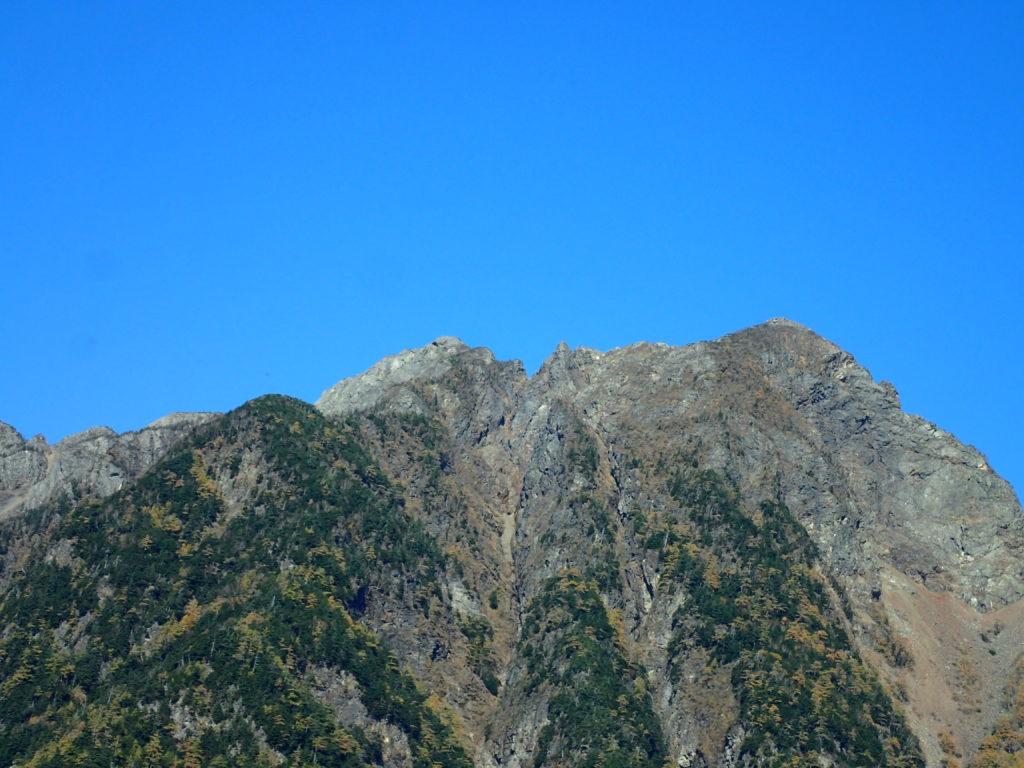 鋸岳の鹿ノ窓方向