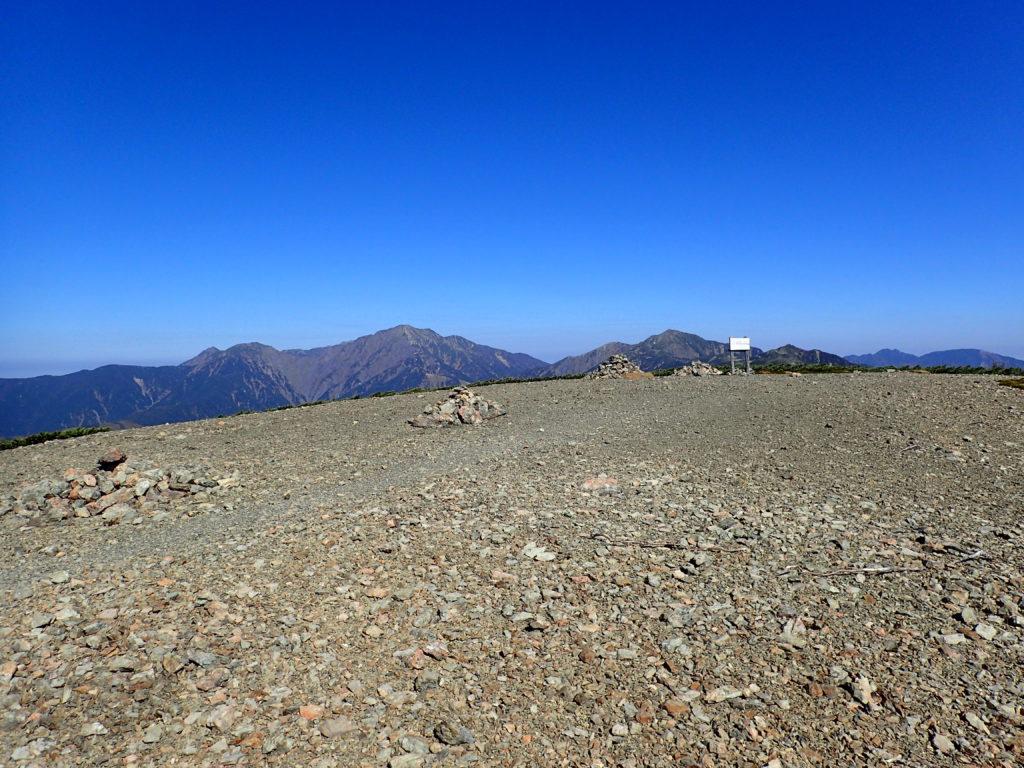 イザルヶ岳山頂と聖岳