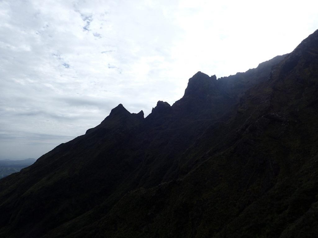 阿蘇山の鷲ヶ峰方向