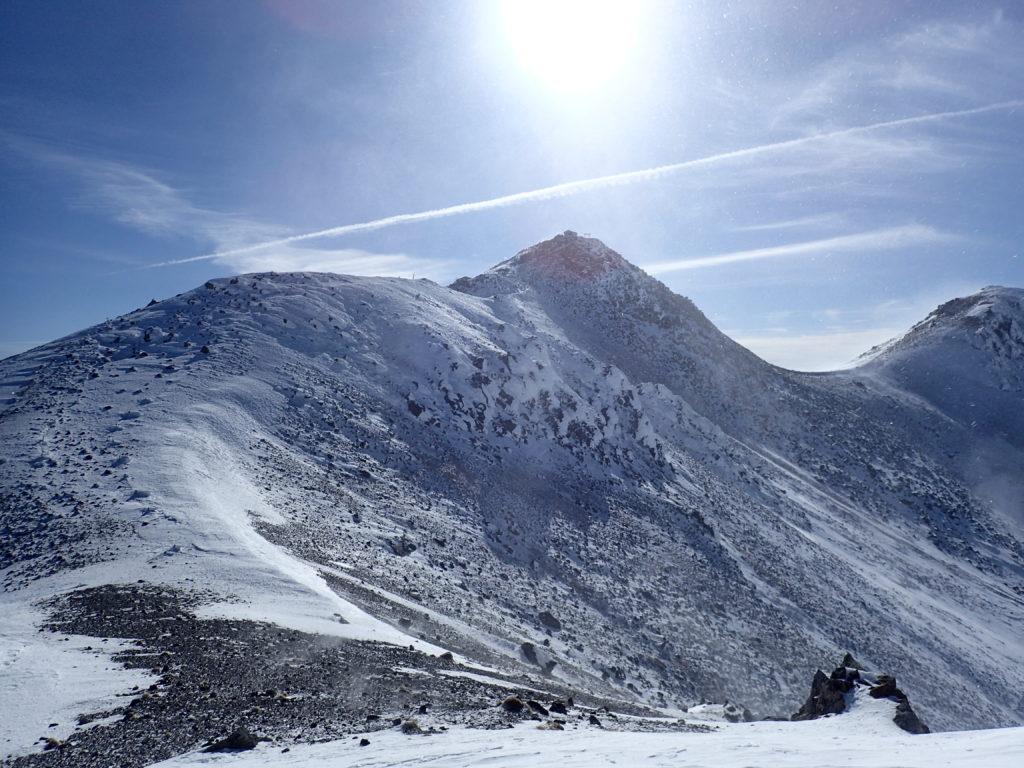 厳冬期の乗鞍岳稜線