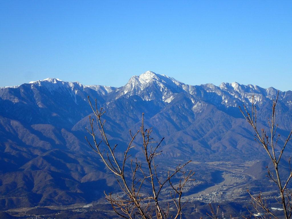 茅ヶ岳から見る甲斐駒ヶ岳